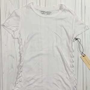 Citizens of humanity white distressed shirt